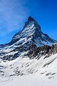 istock Matterhorn in winter season in Zermatt ski resort Switzerland. 1304519110