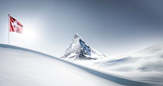 Matterhorn in Wintertime