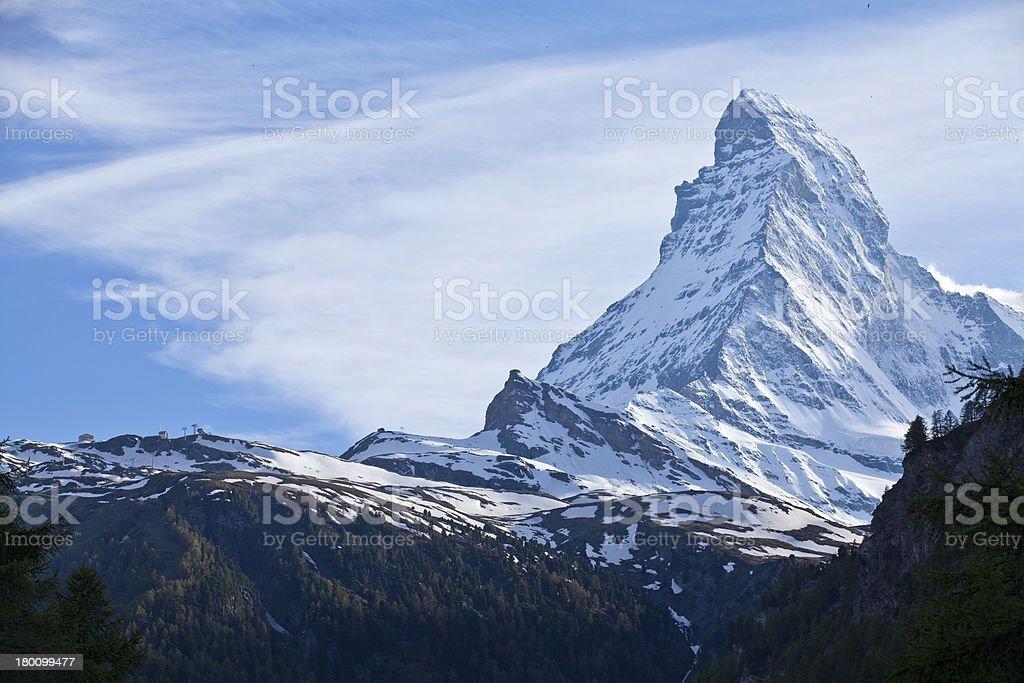 Matterhorn in Zermatt stock photo