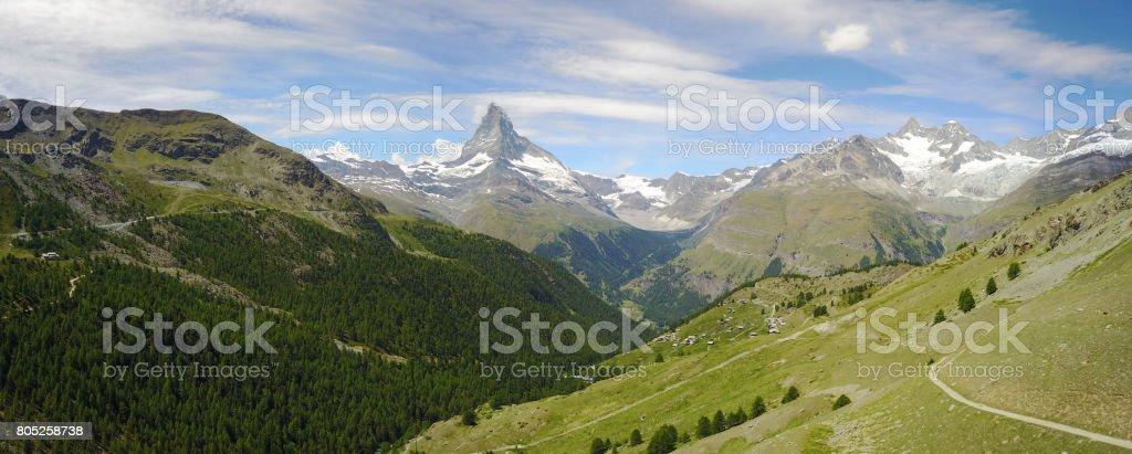 Matterhorn Landscape stock photo