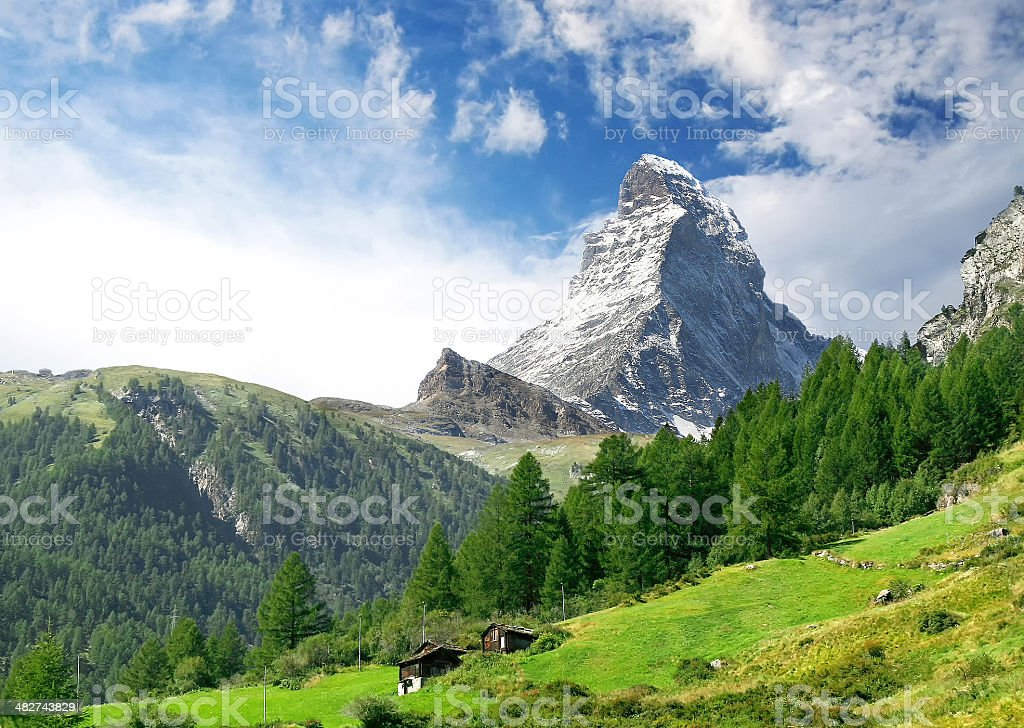 Matterhorn mount stock photo