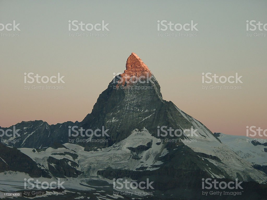 Matterhorn mountain at sunrise, Switzerland royalty-free stock photo