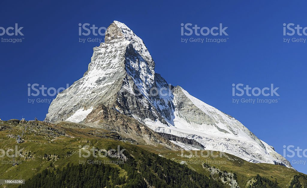 Matterhorn mountain, landmark of Swiss royalty-free stock photo