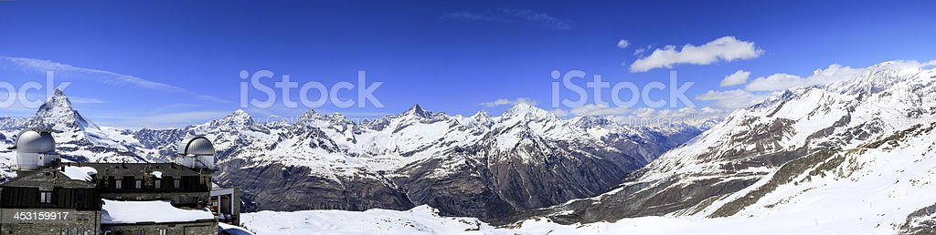 Matterhorn mountain view from Gornergrat royalty-free stock photo