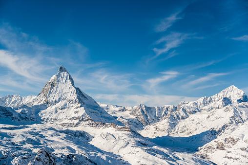 Matterhorn Mountain Winter View