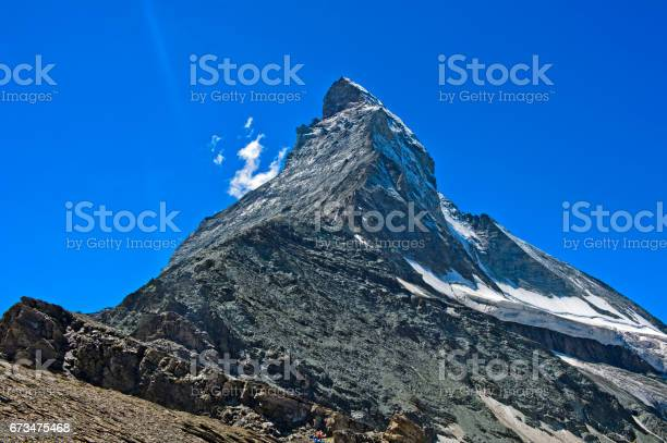 Matterhorn peak, Pennine Alps, Zermatt, Valais, Switzerland