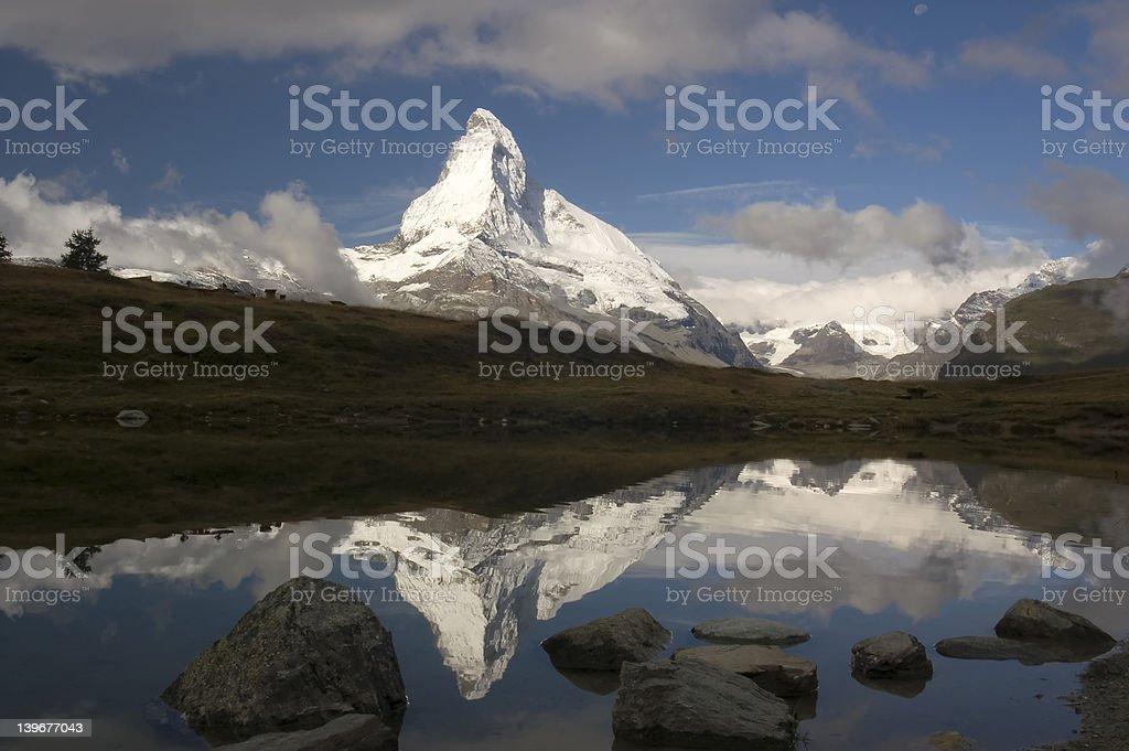 Matterhorn Reflection #2 royalty-free stock photo