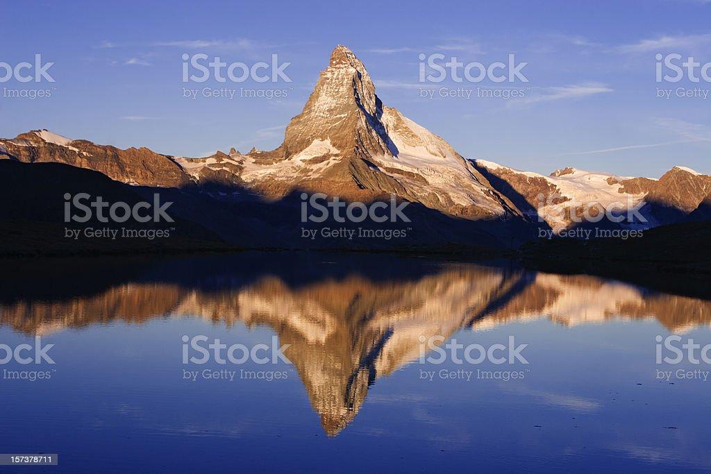 Matterhorn reflection royalty-free stock photo
