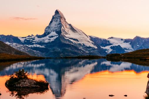 The Matterhorn at sunset. AdobeRGB colorspace.