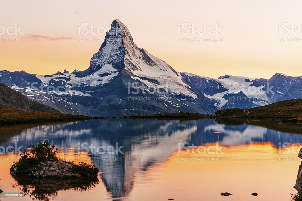 Matterhorn sunset stock photo