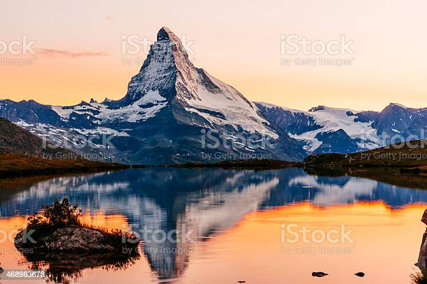 The Matterhorn at sunset. AdobeRGB colorspace.