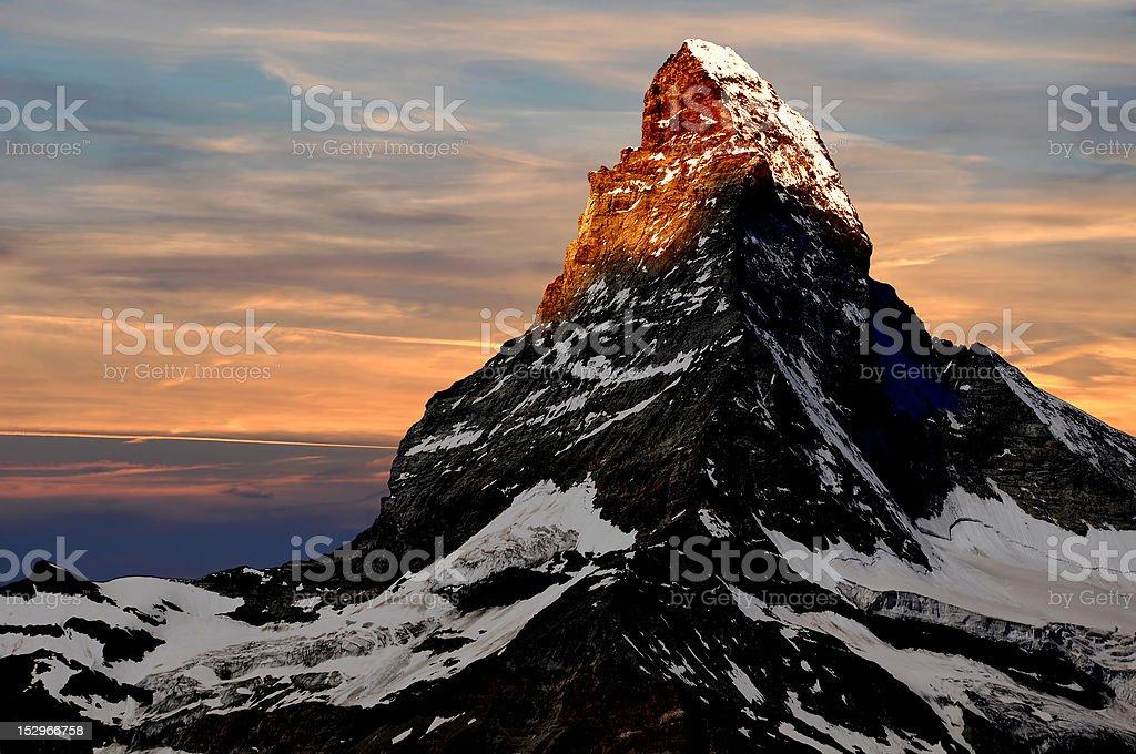 Matterhorn - Swiss Alps stock photo