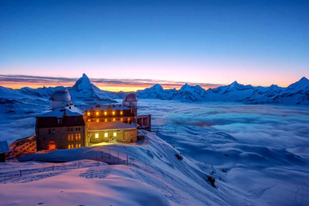 matterhorn, schweiz. - hotel in den bergen stock-fotos und bilder