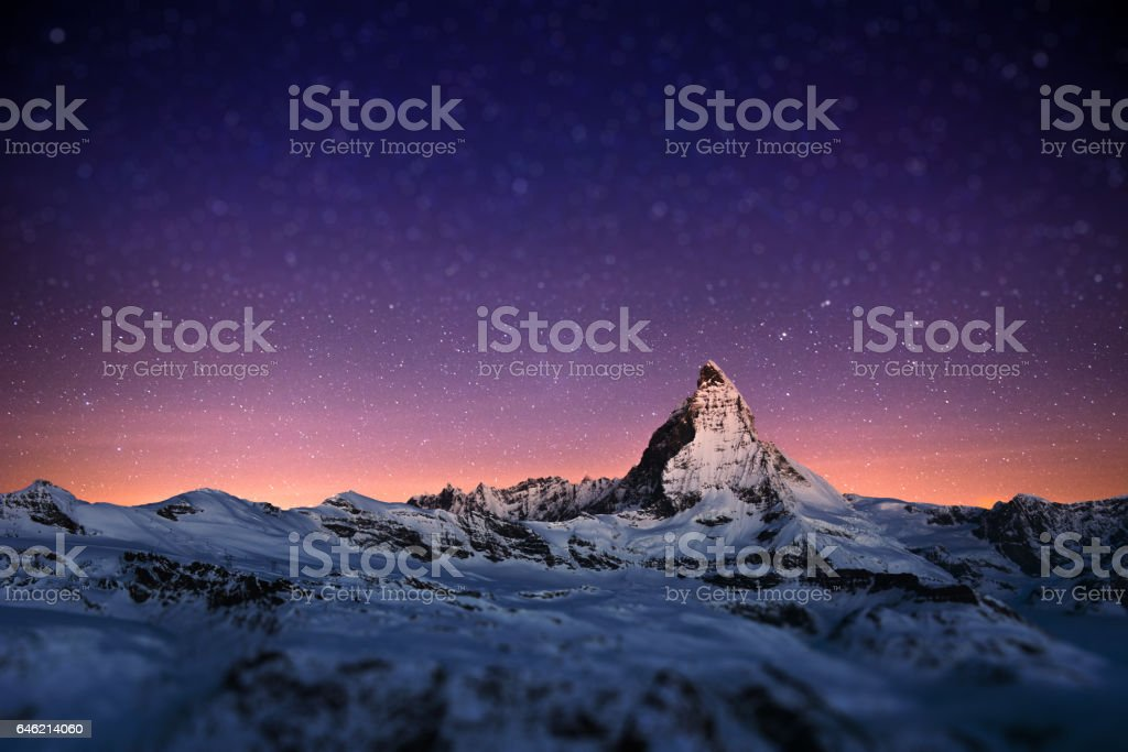 Matterhorn, Switzerland. stock photo