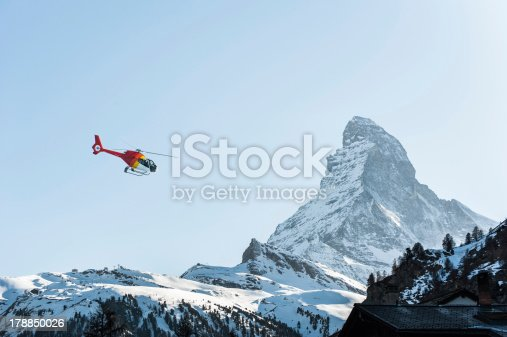 Matterhorn View With Red Helipad