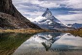 Matterhorn with relfection in Riffelsee, Zermatt, Switzerland