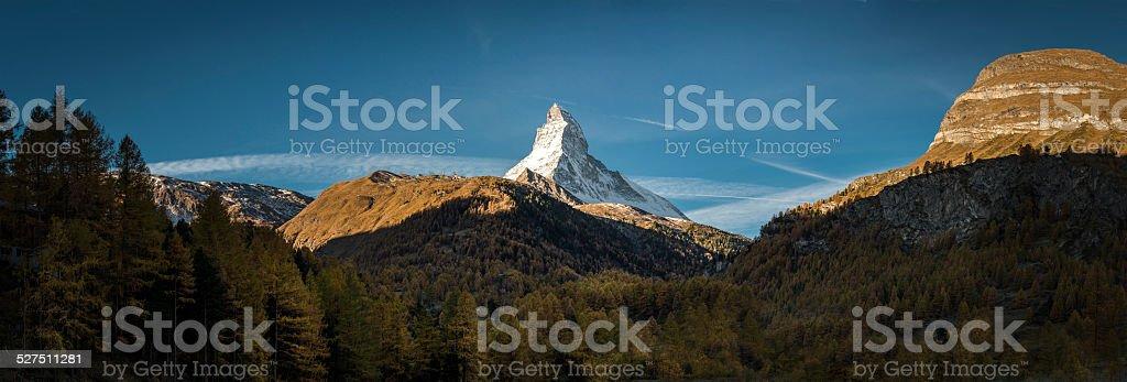 Matterhorn Zermatt swiss Alps stock photo