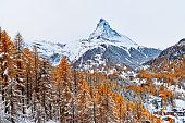 High angle view of matterhorn, Zermatt, Switzerland.