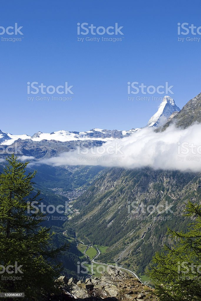 Mattertal and Matterhorn royalty-free stock photo