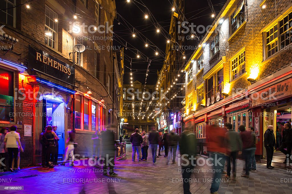 Matthew Street Liverpool stock photo