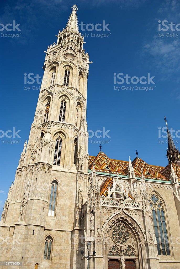 Matthias Church in Budapest (Hungary) royalty-free stock photo