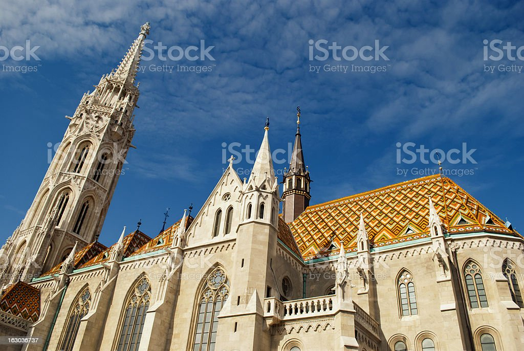 Matthias Church in Budapest (Hungary) royalty-free stock photo