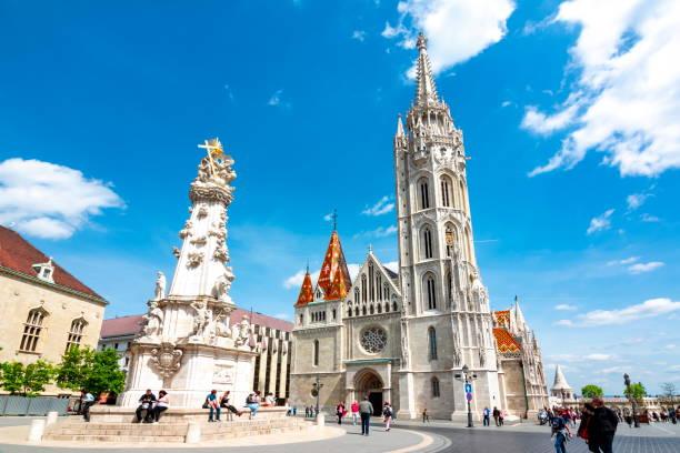 漁夫の砦、ブダペスト、ハンガリーでマーチャーシュ教会 - マーチャーシュ教会 ストックフォトと画像