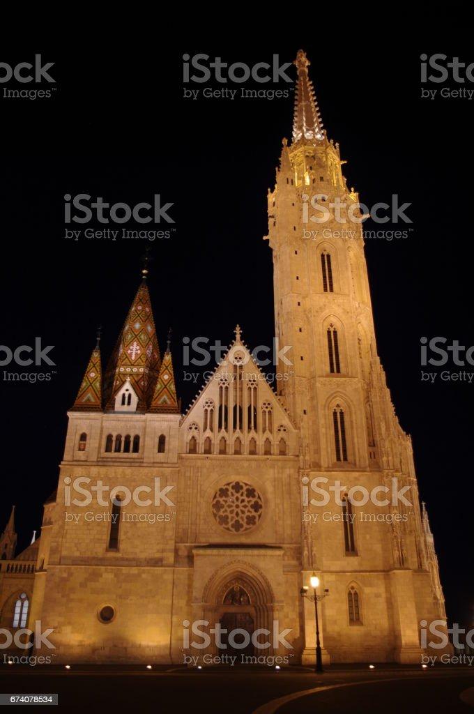 Matthias Church - Night royalty-free stock photo