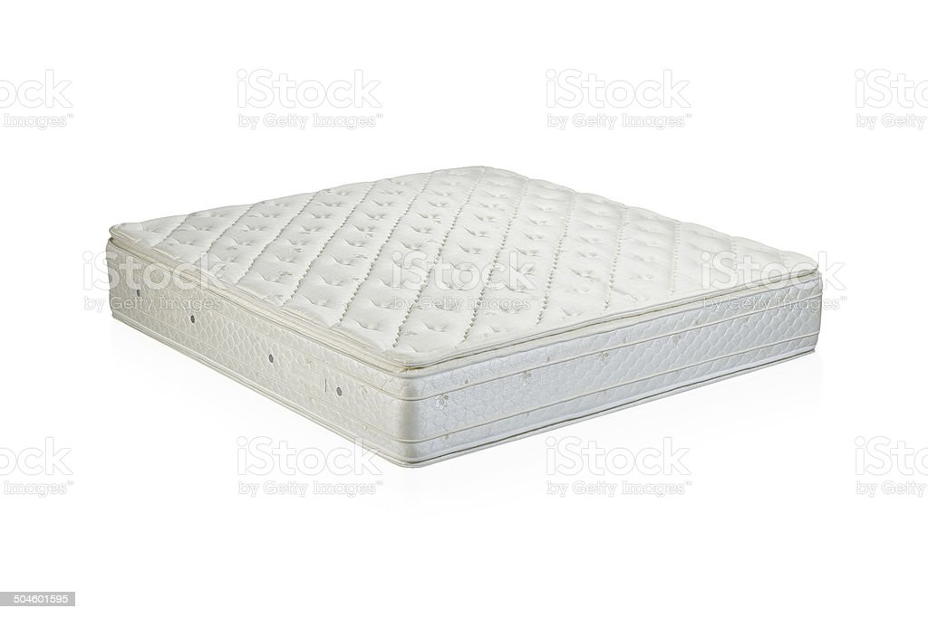 Mattress bedding accessories isolated stock photo