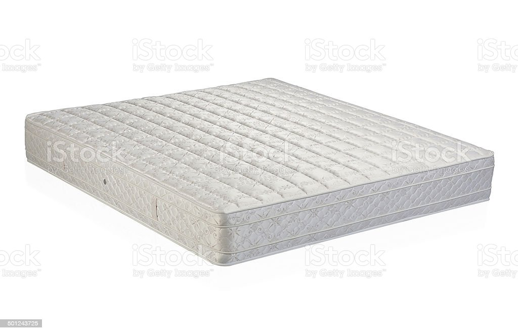 Mattress isolated on white stock photo