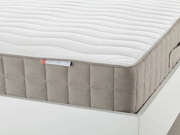 Mattress isolated White mattress closeup latex stock pictures, royalty-free photos & images