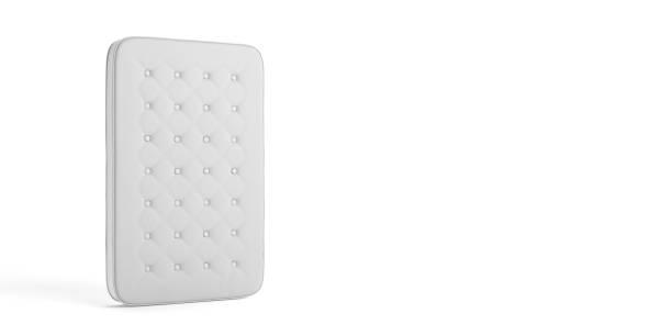 mattress simple isolé sur le fond blanc. illustration 3d - matelas photos et images de collection