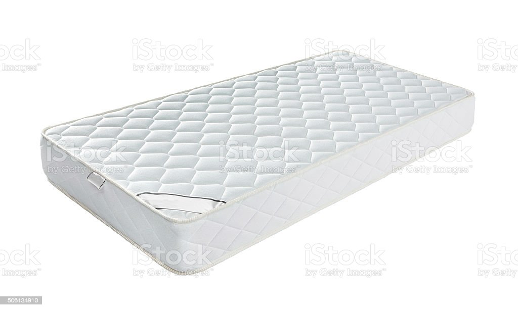Mattress that supported you to sleep well all night isolated stock photo