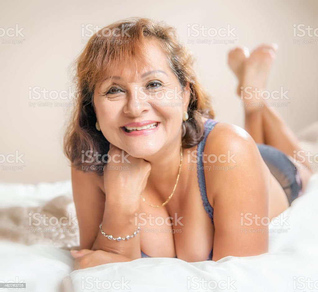 Mature 64 Year Old Hispanic Woman Boudoir Portrait Stock -6816