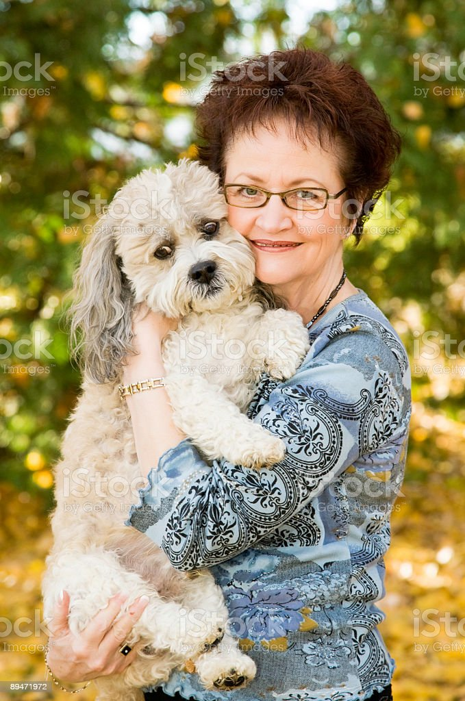 Mature Adult and Dog royalty-free stock photo