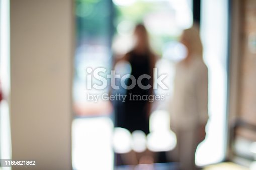 istock Mature Adult Businesswomen in a Corporate Office Workspace Out of Focus Business Backgrounds 1165821862