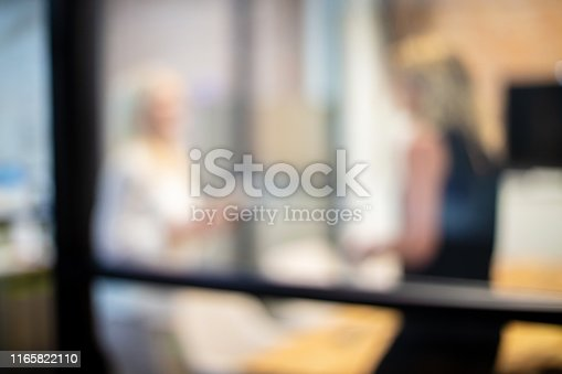 istock Mature Adult Businesswomen in a Corporate Office Workspace Out of Focus Business Backgrounds 1165822110