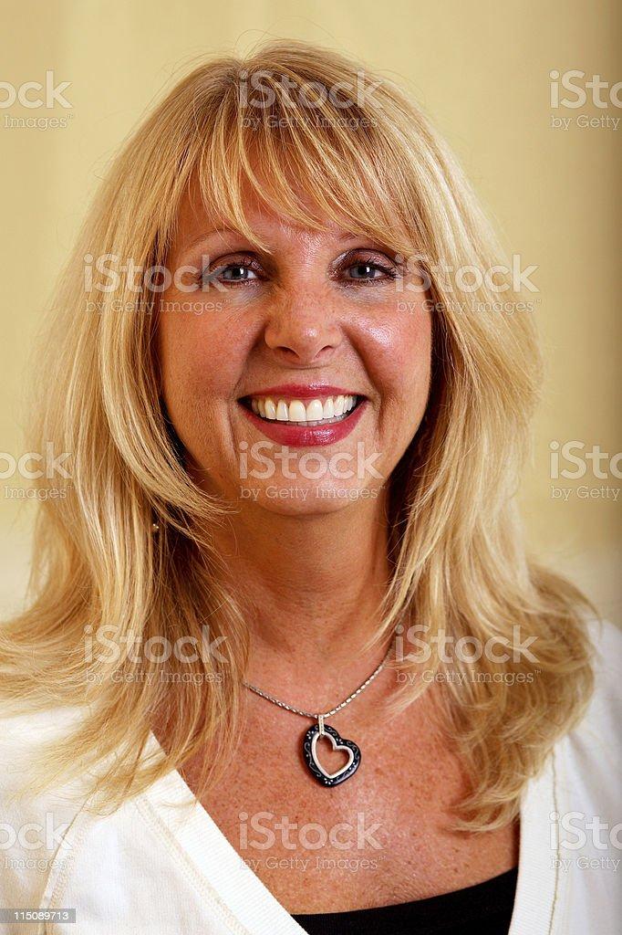 mature adult female beauty portrait royalty-free stock photo