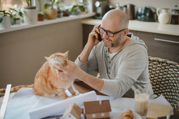 Mature adult man working at home with cat picture id1217567203?b=1&k=6&m=1217567203&s=612x612&w=0&h=muq1ndhgooua 3l7zdp677ayr51dppwmwmwgs0lc198=