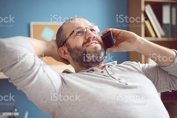 Älterer Erwachsener Mann Arbeitet Im Büro Stockfoto und mehr Bilder von 45-49 Jahre