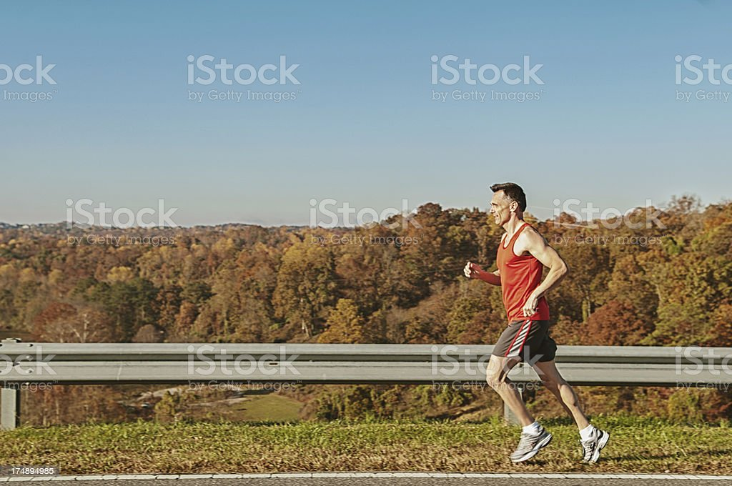 mature adult out running royalty-free stock photo