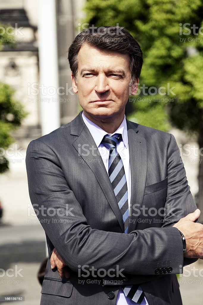 Mature Adult Outdoor Businessman stock photo