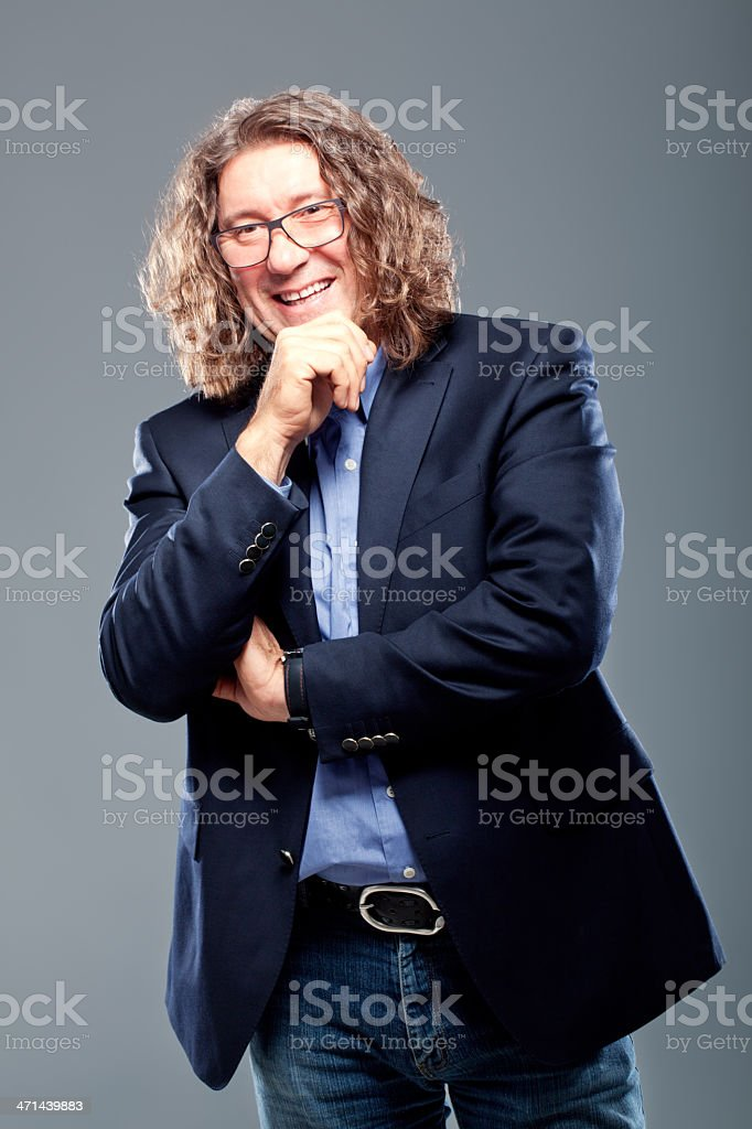 Mature Adult Smiling royalty-free stock photo