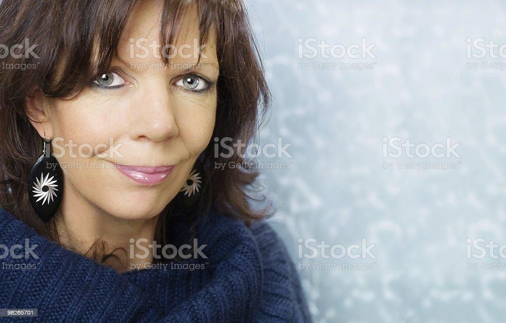 Mature adult woman portrait royalty-free stock photo