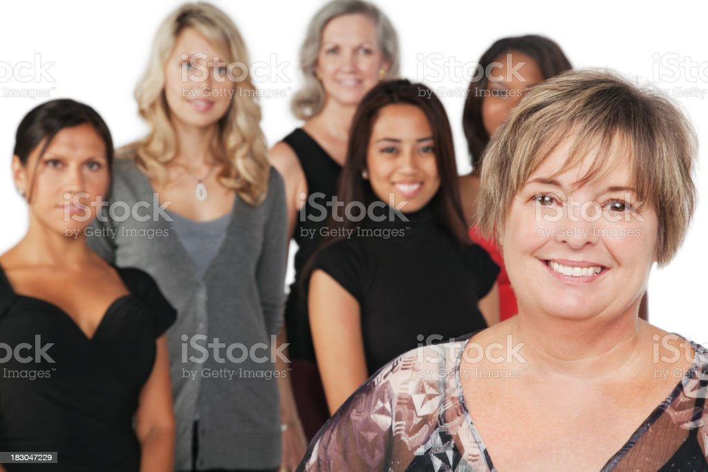 Mature Adult Woman With Group of Women royalty-free stock photo