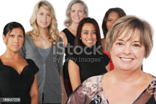 536775759istockphoto Mature Adult Woman With Group of Women 183047229