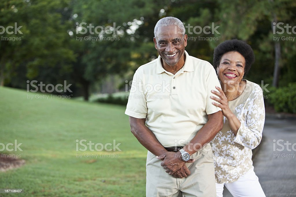 Mature African American couple royalty-free stock photo