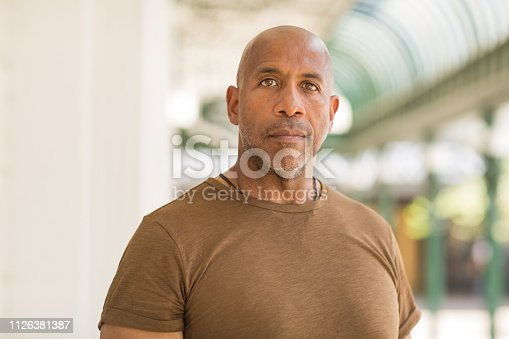 Handsome mature African American man.