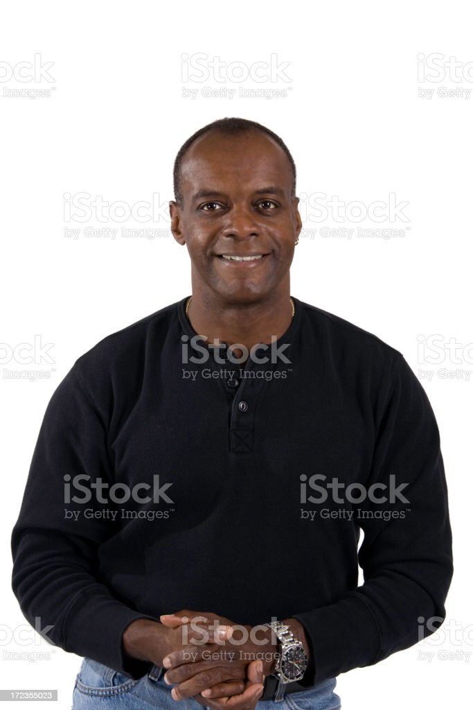 Mature African American Man royalty-free stock photo