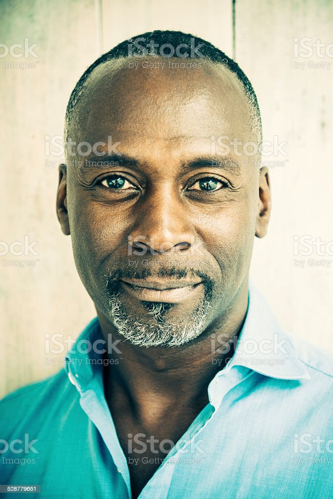 Mature African Man - Character Portrait stock photo